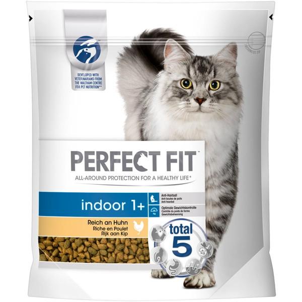 Perfect Fit Katzenfutter Indoor 1 + reich an Huhn