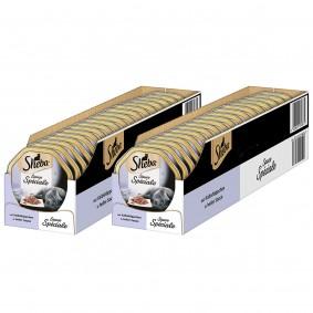 Sheba Katzenfutter Sauce Speciale Kalbshäppchen in heller Sauce 44x85g