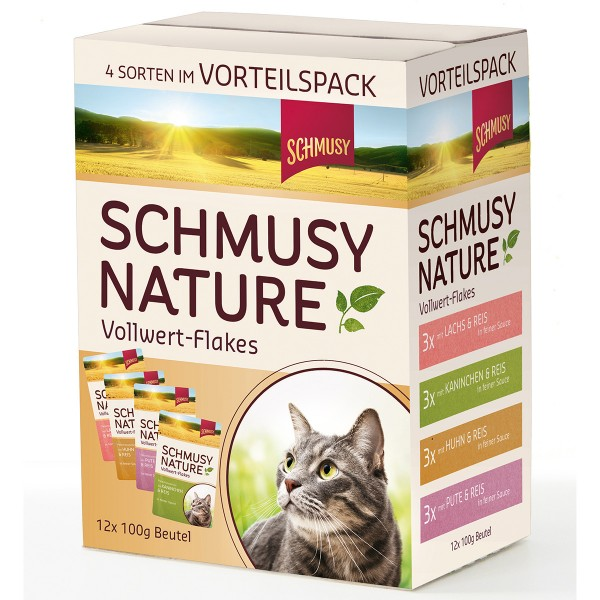 Schmusy Nature Vollwert-Flakes Multibox 12x100g