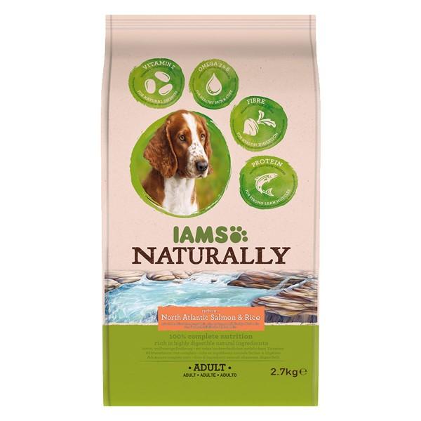 IAMS Naturally Hund Trockenfutter Adult Lachs & Reis