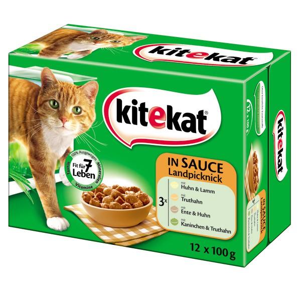 Kitekat - Aliment pour chats en sachets 12x100g